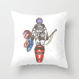 The Last Spaceman Throw Pillow