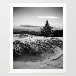 Snowy Appalachian Mountaintop Art Print