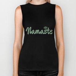 Namaste   Lotus Flower Yoga Yoga Jogi Meditation Biker Tank