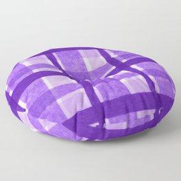 Tissue Paper Plaid - Purple Floor Pillow