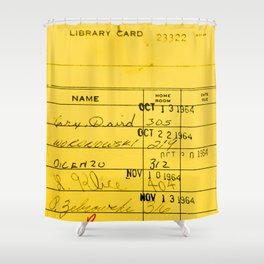 Library Card 23322 Yellow Shower Curtain