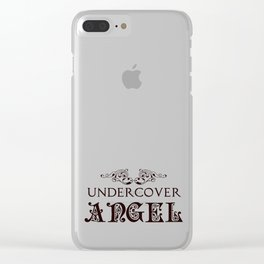 Undercover Angel Clear iPhone Case