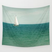 sail Wall Tapestries featuring Minty Sail by Pure Nature Photos