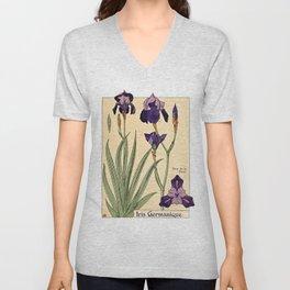 Maurice Verneuil - Iris germanique - botanical poster Unisex V-Neck