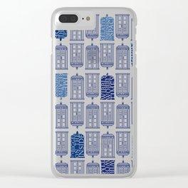 Tardis Tardis Tardis Clear iPhone Case