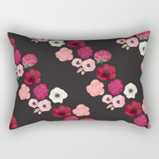 Black & Flowers Rectangular Pillow