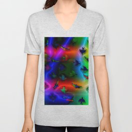 Birds of fantasy and colors ... Unisex V-Neck