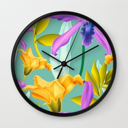 Tropical overload Wall Clock