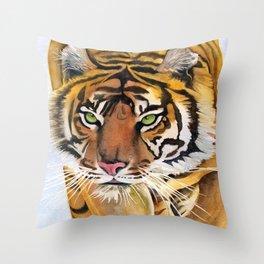 Walking Tiger Throw Pillow