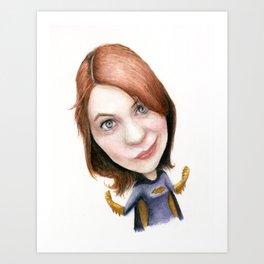Felicia Day Batgirl Art Print