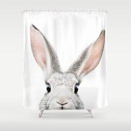 Hello Bunny Shower Curtain