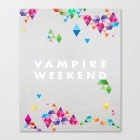 vampire weekend Canvas Prints featuring Vampire Weekend  2 by alboradas