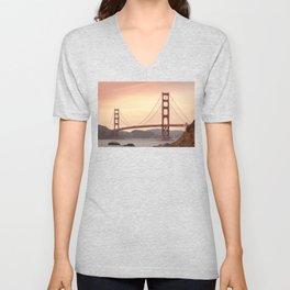 Golden Gate Bridge (San Francisco, CA) Unisex V-Neck
