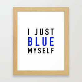 Blue Myself Framed Art Print