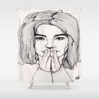 bjork Shower Curtains featuring Bjork by Paul Nelson-Esch Art