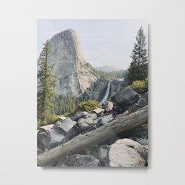 Liberty Cap and Nevada Falls in Morning Light Metal Print