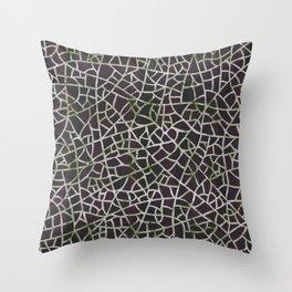 Crackle Magenta Suede Throw Pillow