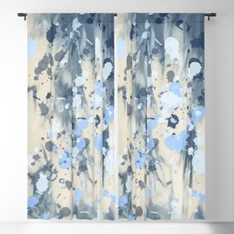 Indigo Splatter Blackout Curtain
