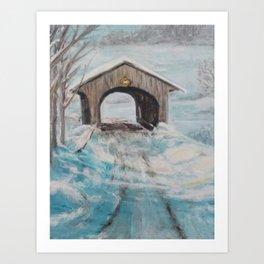 Vermont Covered Bridge Art Print
