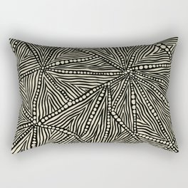 Black and Ivory Triangles Rectangular Pillow