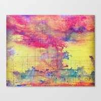 maps Canvas Prints featuring maps by Emily Tumen