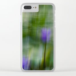 Tropical Impressionism (Purple Water Lily) Clear iPhone Case