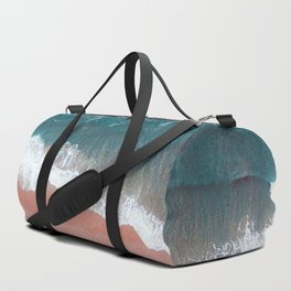 Turquoise Sea Pastel Beach III Duffle Bag
