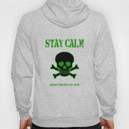 Stay Calm Pirate Flag Hoody