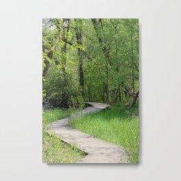 Winding boardwalk Metal Print