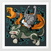 invader zim Art Prints featuring Invader Midna by HelloTwinsies