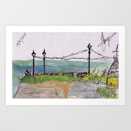 broadstairs view Art Print