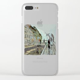 Boston Rain: Exit Gate 3 Clear iPhone Case