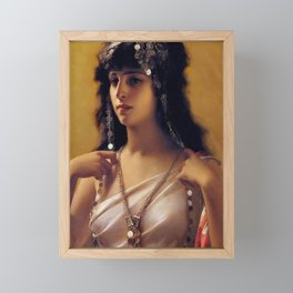 "Luis Ricardo Falero ""An Oriental Beauty"" Framed Mini Art Print"