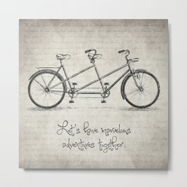 Bicycle Quote Metal Print