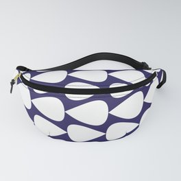 Plectrum Pattern in White on Delft Navy Blue Fanny Pack