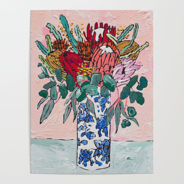 Australian Native Bouquet of Flowers after Matisse Poster