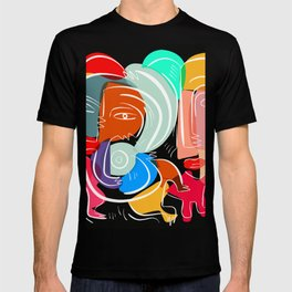 Love your family expressionist cubist street art T-shirt