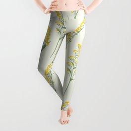 Goldenrod Floral Leggings