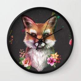 Fox of Spring Wall Clock