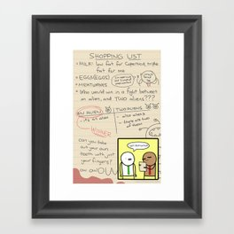 Antics #279 - the simplest task Framed Art Print