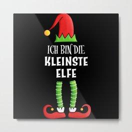 Kleinste Elfe Partnerlook Weihnachten Metal Print