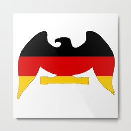 German Flag - Eagle Metal Print