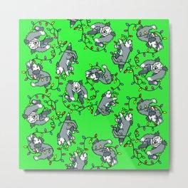 sheepie in lights green Metal Print