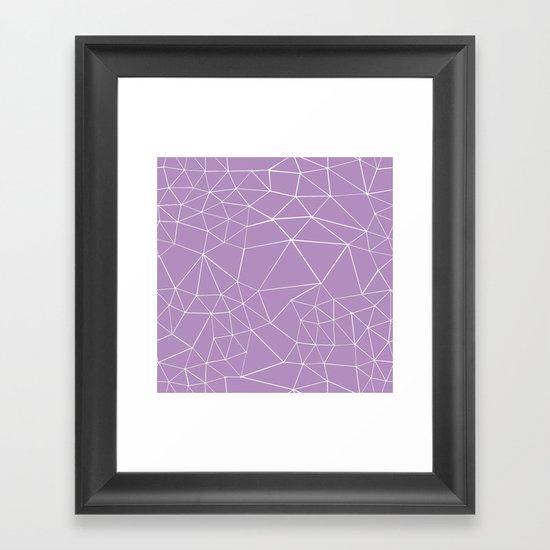 Segment Zoom Orchid Framed Art Print