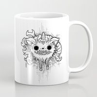 antler Mugs featuring Antler Monster by tnelly