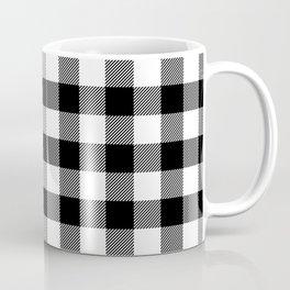 Black and White Buffalo Check Coffee Mug