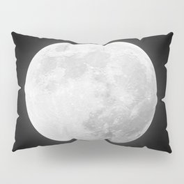 CHALK WHITE MOON Pillow Sham