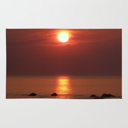Halo Sunset Glow Rug