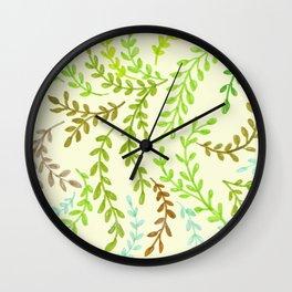 Leaves, 2 Wall Clock