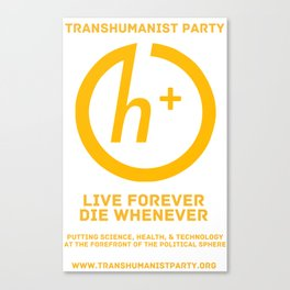 Transhumanist Party Canvas Print